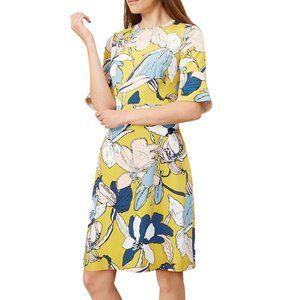 HOBBS London | Charlie Dress Floral Mustard Sz 6